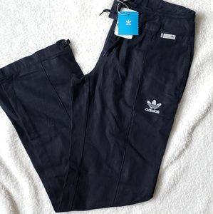 Adidas NWT Navy Drawstring Linen Pants Size Medium